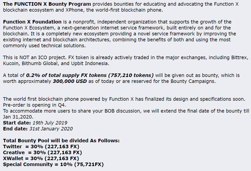 bitcointalk bounty campaign