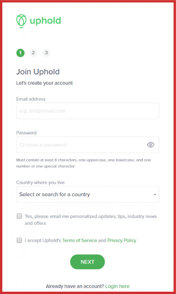 connect uphold