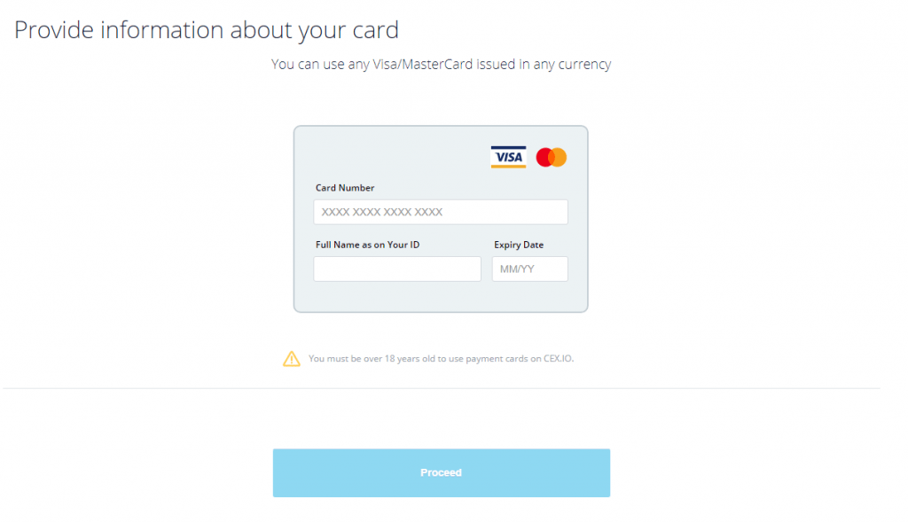 add card cex.io