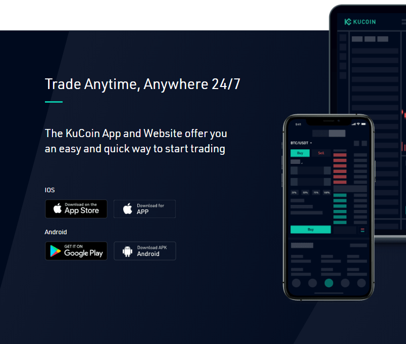 kucoin mobile application