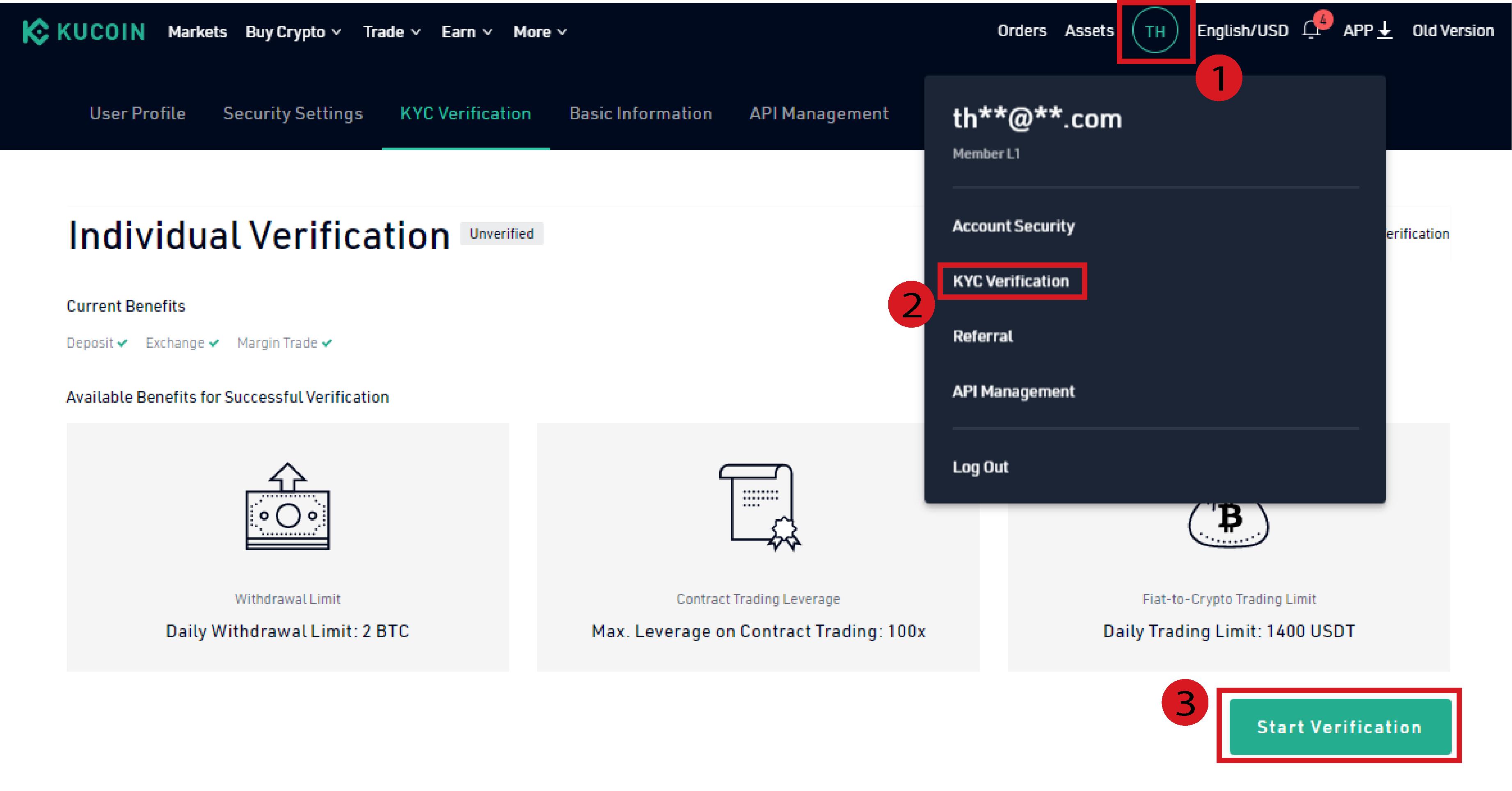 kucoin verification process