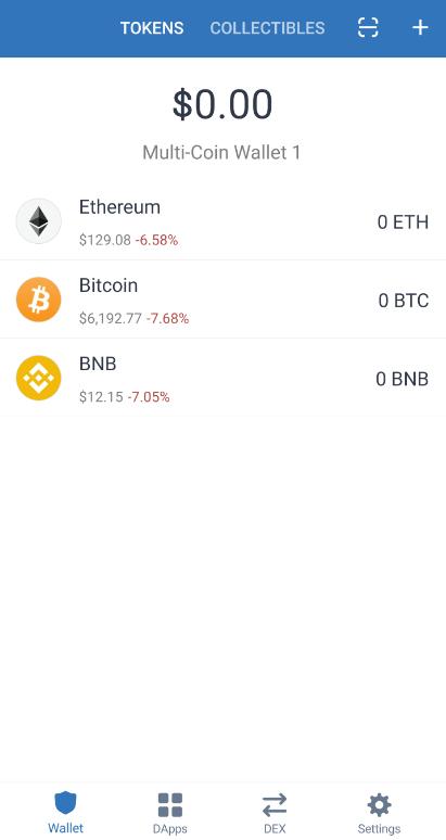 trust wallet dashboard
