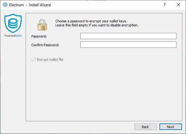 setting the password