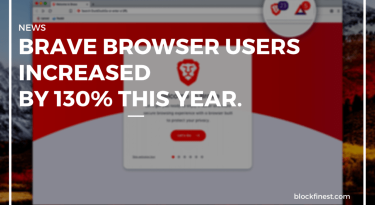 brave browser users increased by 130%