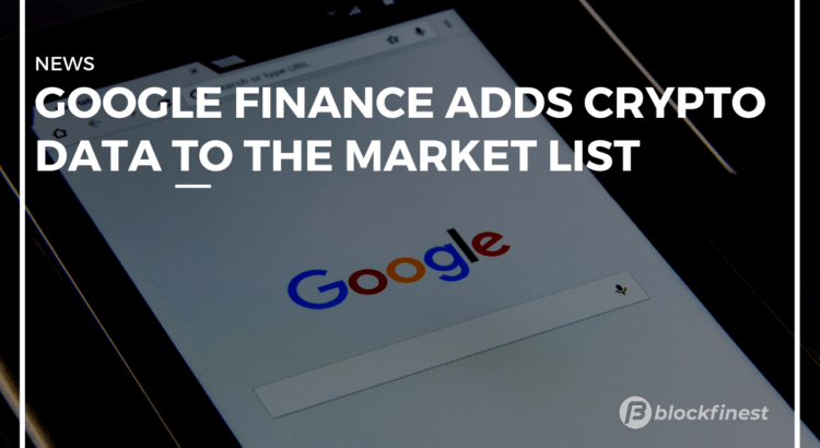 google finance adds crypto data to the markets