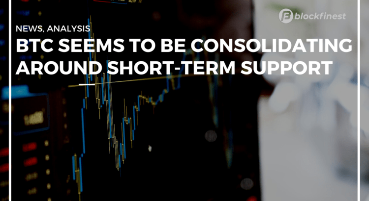 btc seems to be consolidating around short term support